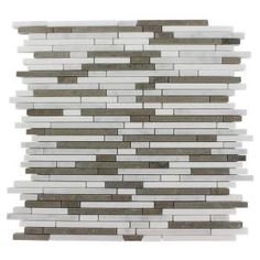 Ivy Hill Tile Windsor Random Alaskan Blend Pattern 12 in. x 12 in. x 8 mm Marble Mosaic Floor and Wall Tile, Beige / Cream Marble Mosaic, Stone Mosaic, Mosaic Tiles, Wall Tiles, Commercial Bathroom Ideas, Splashback Tiles, Backsplash, Contemporary Tile, Border Tiles