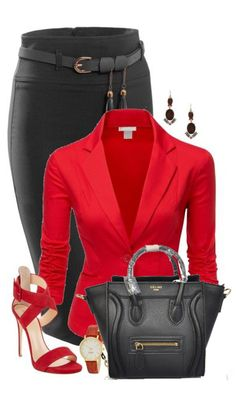 Top 14 Red Work Outfit Designs – Happy Christmas & New Year Famous Fashion - Homemade Ideas Source by fashion style classy Mode Outfits, Fashion Outfits, Womens Fashion, Fashion Trends, Party Outfits, Work Fashion, Fashion Looks, Fashion Fashion, Fashion Beauty