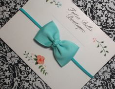 Tiffany Blue Baby Headband Aqua Baby Hair by TuttaBellaBoutique