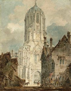 J. M. W. Turner - Oxford, Tom Tower, Christ Church