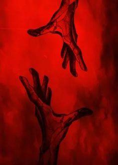 metal canvas Illustration hand red let go art illustration love dispear forget miss