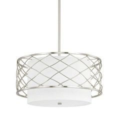 Donny Osmond Sawyer 3 Light Drum Pendant Finish: Brushed Nickel