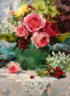 Meadow Gist   American Impressionist painter and illustrator