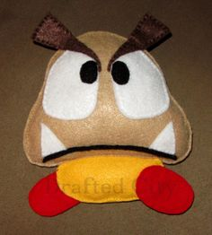 Goomba Super Mario Inspired Felt Plushie by DraftedCity on Etsy, $20.00