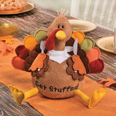 If dinner is your favorite part of the holiday, you'll love this hungry Thanksgiving bird. Place him among your fall decorations or make this pl. Thanksgiving Table Runner, Thanksgiving Gifts, Thanksgiving Decorations, Thanksgiving Cookies, Thanksgiving Turkey, Thanksgiving Birthday, Frugal Christmas, Christmas Fun, Fall Crafts