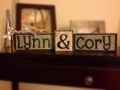 Customized Handmade Couples Name Block Set by ThatsMyNameDesigns, $27.00