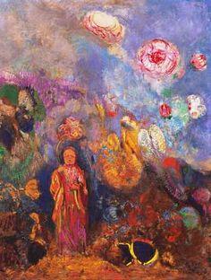 Redon, Buddha & Flowers, year ?