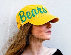 Gameday Couture - W10G12 Bears Glitter Hat , Contact us at info@gamedaycouture.com (http://www.gameday-couture.com/w10g12-bears-glitter-hat/)