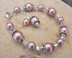 Swarovski Pearl and Crystal Bracelet in by MonkeysNMunchkins, $19.00