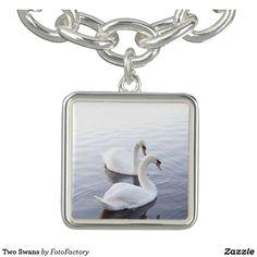 Two Swans Charm Bracelet