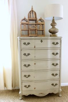 Chalk Painted Dresser - I am currently obsessed with chalk paint as I have tons of furniture that needs painting
