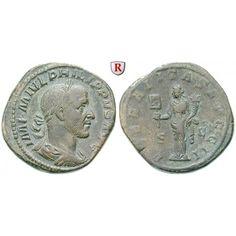 Römische Kaiserzeit, Philippus I., Sesterz 244-249, ss+: Philippus I. 244-249. Messing-Sesterz 32 mm 244-249 Rom. Drapierte und… #coins