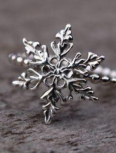 Snowflake Ring Filigree Snowflake Sterling