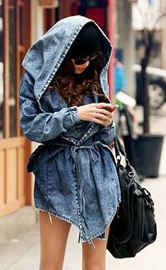 $79 ON SALE Hilary Denim Trench - http://www.everything-lovely.com/products/hilary-denim-trench