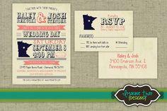 Rustic Wedding Invitation Set - PRINTABLE $15.00, via Etsy. - The Tres Chic