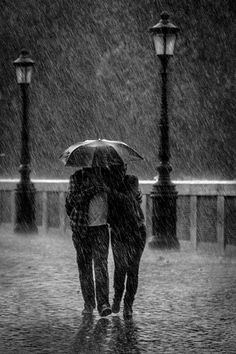 A walk on a rainy night with the one you love, who could ask for anything more!