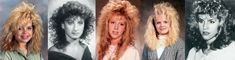 How can you say hairstyles in the 80's weren't rad.  Tease it, curl it, perm it...the bigger the hair the better.