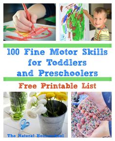 100+ Fine Motor Skills for Toddlers - so many great DIY activities