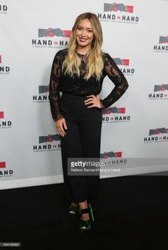 In this handout photo provided by Hand in Hand, Hilary Duff attends Hand in Hand: A Benefit for Hurricane Relief at Universal Studios AMC on September 12, 2017 in Universal City, California.  (Photo by Neilson Barnard/Hand in Hand/Getty Images)