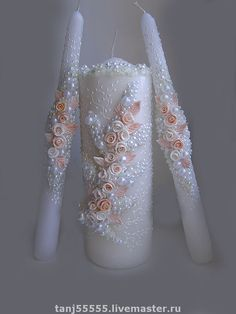 Свадебные аксессуары ручной работы. Ярмарка Мастеров - ручная работа свадебные свечи. Handmade.