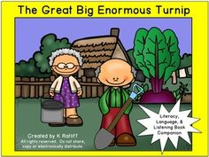 The Great Big Enormous Turnip : Literacy, Language and Listening Book Companion Spring Activities, Book Activities, Folktale, Receptive Language, Story Books, Language Development, Teamwork, Stew, Childrens Books