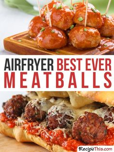 Airfryer Recipes | Meatball Philips Airfryer Recipes For The Complete Beginner from RecipeThis.com