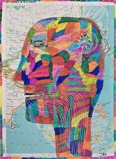 ch – the online-gallery: John McKie Cobra Art, Original Artwork, Original Paintings, Oil Painting Techniques, Art Brut, Found Object Art, Sewing Art, Naive Art, Mural Painting