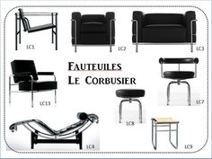 Chairs by Le Corbusier - CD: .You can find Le corbusier and more on our websi. Furniture Styles, Furniture Design, Le Corbusier Architecture, Bauhaus Furniture, Shabby Chic Table And Chairs, Bauhaus Design, Zaha Hadid Architects, Charles Eames, Chair Design