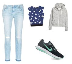 """""""Untitled #134"""" by aayushis on Polyvore featuring agnès b., H&M, Current/Elliott and NIKE"""
