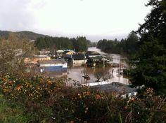 Nehalem, Oregon flooded December 9, 2015