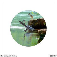 Herons Round Clock