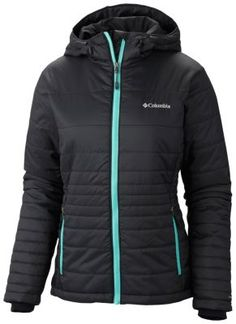 Columbia $150 Like its name implies, this ultralight, warm, and versatile down jacket is your new go-to for cold-weather adventure. Combining our superior synthetic insulation and a thermal-reflective lining for great heat retention with a high level of breathability, the Go To Hooded Jacket is the perfect partner to dynamic activity. A water-resistant shell features variegated baffling lines that go from wide to narrow for a body-flattering effect.