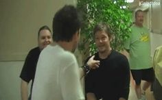 Norman Reedus messing with Sean Patrick Flanery - Adorable