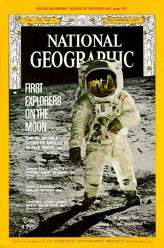 National Geographic 887, December 1969, Explorers on the Moon Apollo 11 / National Geographic Photography / Covers