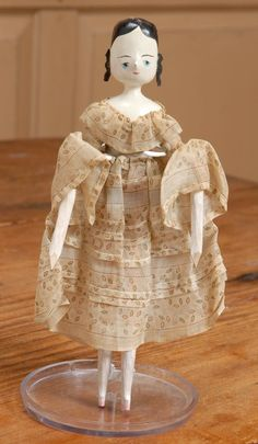 """8.5"""" Peg-Wooden Lady Doll from beckysbackroom on Ruby Lane"""