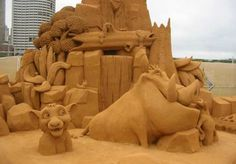 Lion King:it's a sand castle!