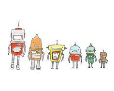 Line-up de Robots.