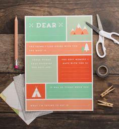 Free printable for Father's Day: a fill-in-the-blanks survey from the kids via Tiny Me