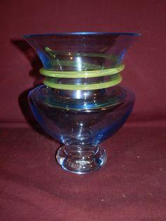 Kosta Boda signed & # Art Glass Vase by Gunnel Sahlin