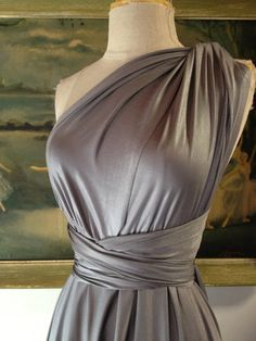 Jaws Pewter Octopus Infinity Wrap Dress  by CoralieBeatrix on Etsy, $89.99  Bridesmaids, Wedding
