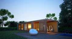 Casa Modular - Fachada: Casas pré-fabricadas  por Maqet