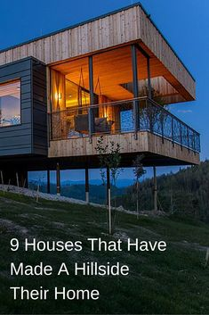 Here are 9 homes from around the world, that have all been built on hillsides.