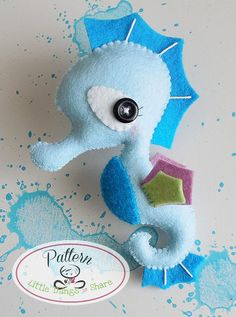The Seahorse PDF pattern-Sea animals by LittleThingsToShare