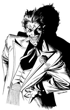 """Currently working on drawing the top part of The Joker by Brian Bolland, boy do I dive right in! Comic Book Artists, Comic Book Characters, Comic Artist, Comic Character, Comic Books Art, Batman Kunst, Batman Art, Batman Ninja, Gotham Batman"