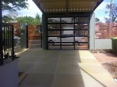 modern carport and fence - Google Search