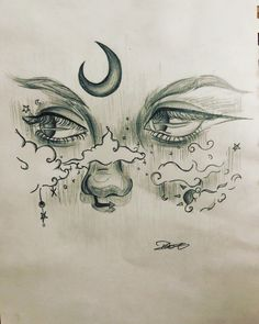 Girl Drawing Sketches, Art Drawings Sketches Simple, Cute Drawings, Cool Sketches, Beautiful Drawings, Dark Art Drawings, Pencil Art Drawings, Arte Sketchbook, Cartoon Art Styles