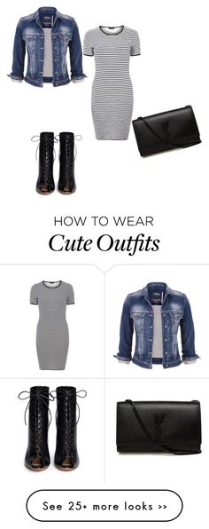 """Feeling cute outfit....."" by kelliedieng on Polyvore featuring maurices, Dorothy Perkins, Gianvito Rossi and Yves Saint Laurent"