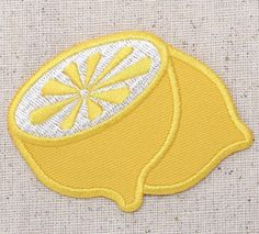 Lemon Iron on Applique High quality, detailed embroidery applique. Can be sewn…
