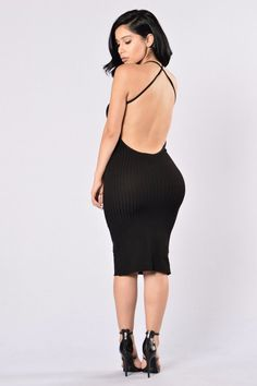 Turn Around Dress - Black | Fashion Nova