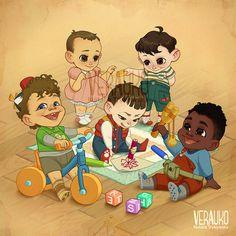 Stranger Kids by verauko on DeviantArt
